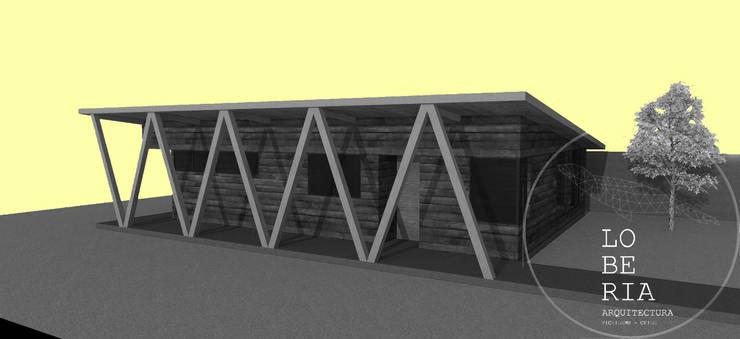 Diseño de Casa 93 por Lobería Arquitectura: Casas unifamiliares de estilo  por Loberia Arquitectura