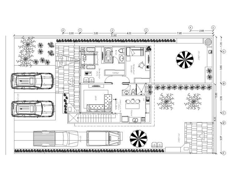 Planta Alta: Casas de estilo  por Stonehenge Urbano