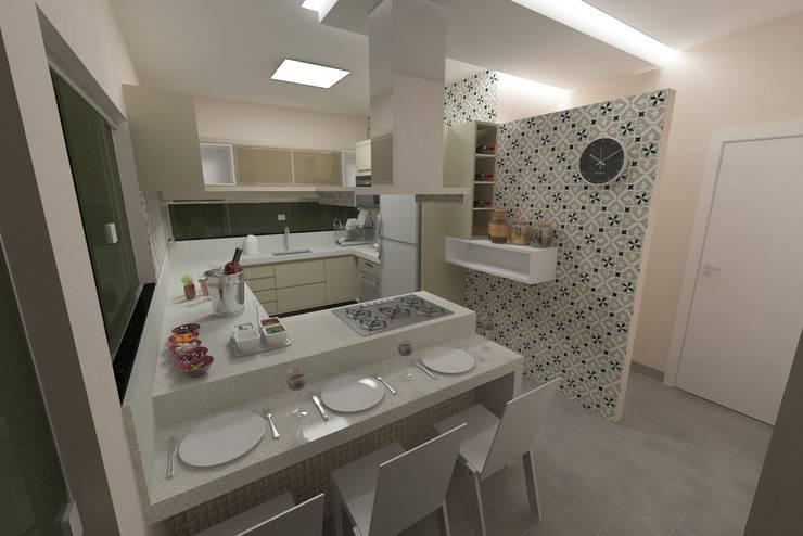 Cozinha: Cozinhas  por Júlio Padilha Fabiani - Arquiteto