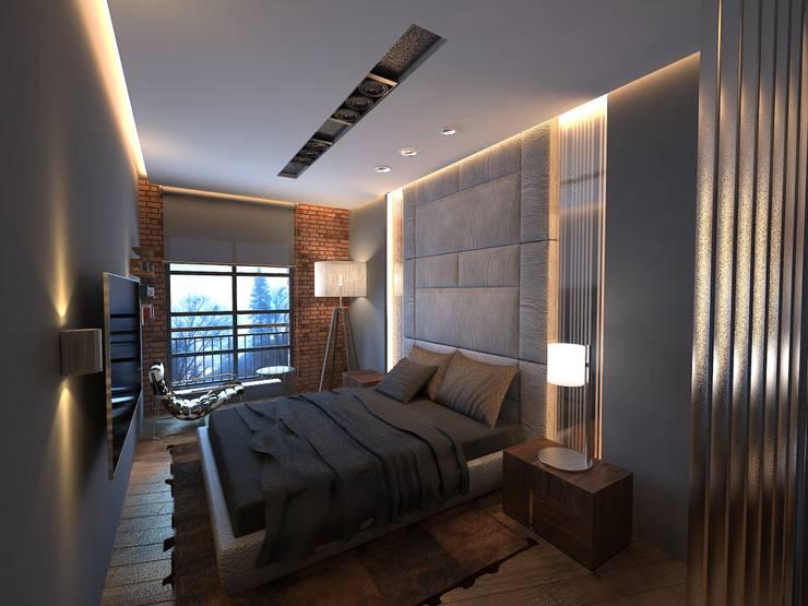 Doku Mimarlık – Bornova Apartman:  tarz Yatak Odası