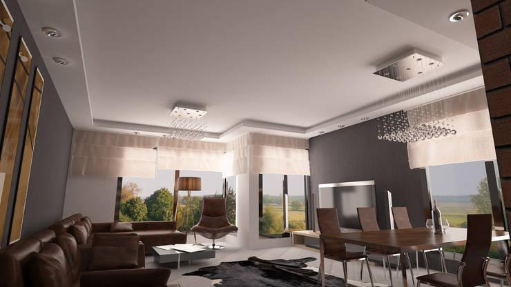 Doku Mimarlık – Alsancak Apartman Projesi:  tarz Oturma Odası