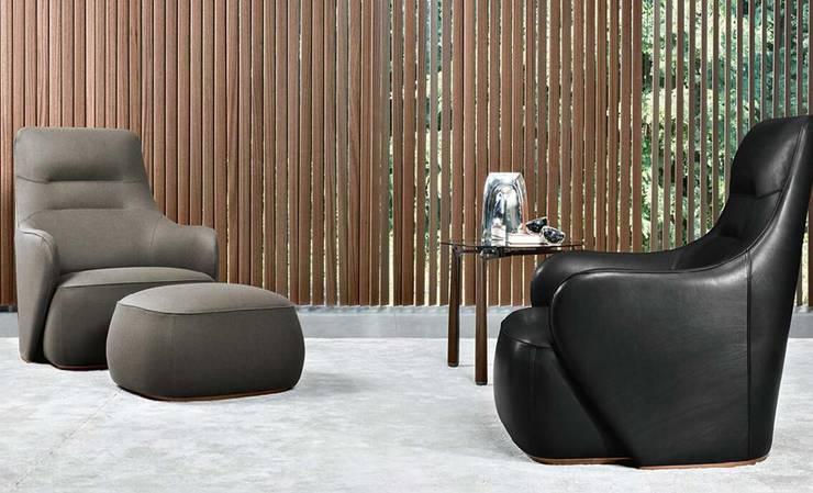 GIORGETTI傢俱现代实木家具,意大利現代風格:  客廳 by 北京恒邦信大国际贸易有限公司