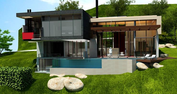FACHADA PRINCIPAL:  de estilo  por IngeniARQ Arquitectura + Ingeniería
