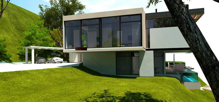 FACHADA NORTE:  de estilo  por IngeniARQ Arquitectura + Ingeniería