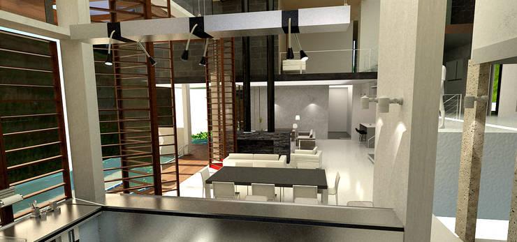 SALA:  de estilo  por IngeniARQ Arquitectura + Ingeniería
