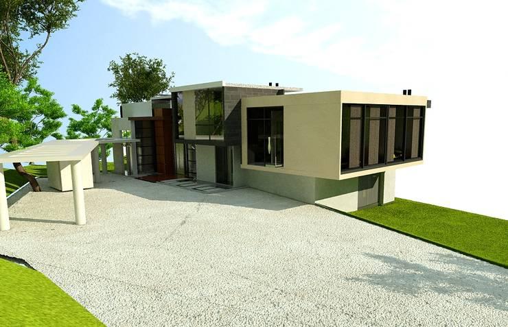 FACHADA OCCIDENTAL:  de estilo  por IngeniARQ Arquitectura + Ingeniería