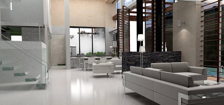 SALA 2SALA 2:  de estilo  por IngeniARQ Arquitectura + Ingeniería