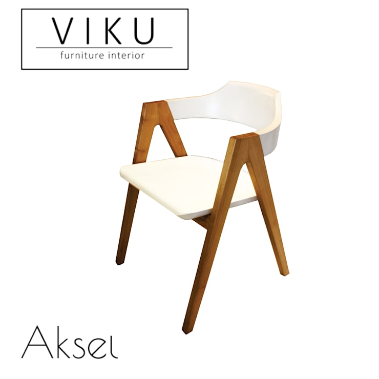 Aksel dining chair:  Dining room by viku