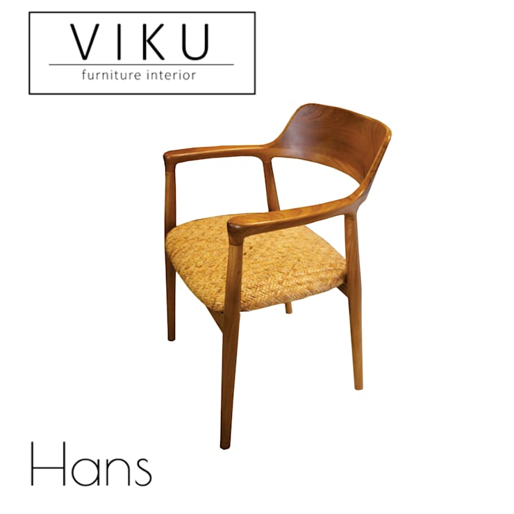 Hans dining chair:  Dining room by viku