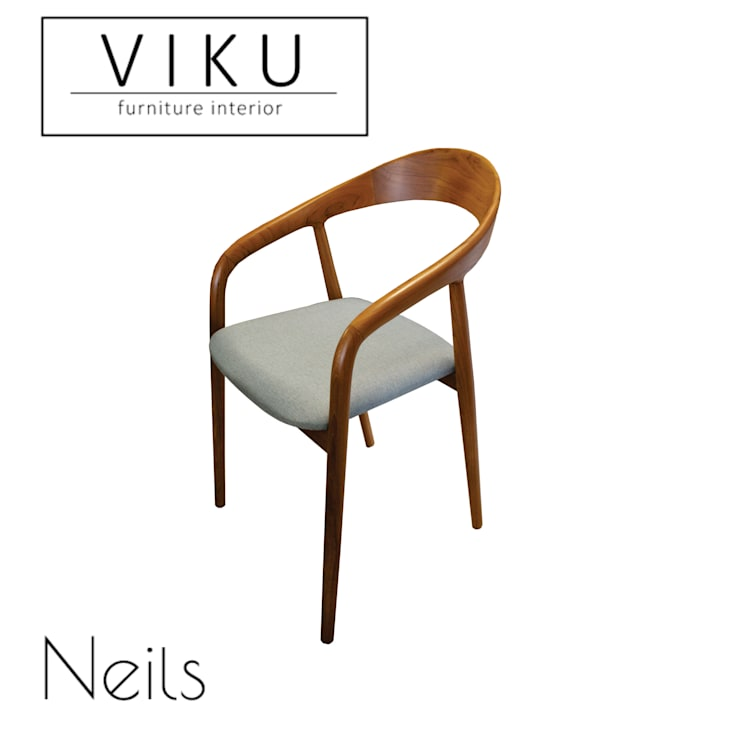 Neils dining chair:  Dining room by viku
