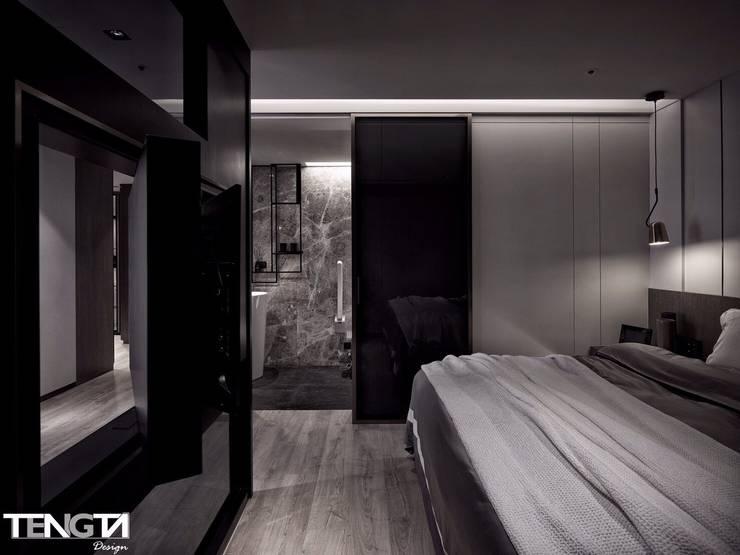 線條 ╳ 藝術:  臥室 by 騰龘空間設計有限公司