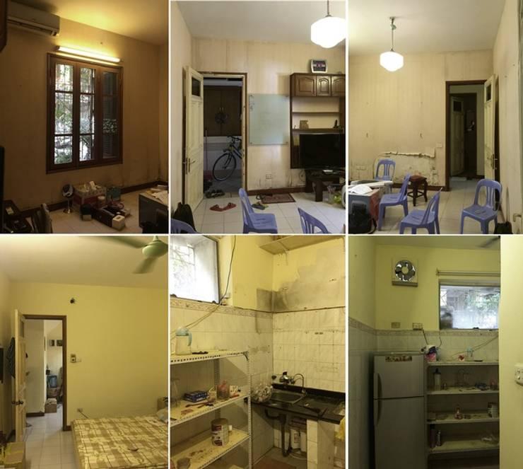 Dịch vụ cải tạo nhà cửa giá rẻ tại Hà Nội – 0243.200.39.09:  Nhà cho nhiều gia đình by Kiến Trúc Xây Dựng Incocons