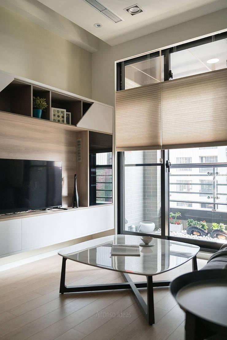 穿透的陽光:  客廳 by 耀昀創意設計有限公司/Alfonso Ideas
