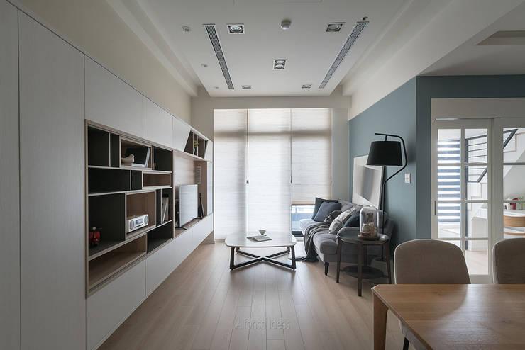 拓展:  客廳 by 耀昀創意設計有限公司/Alfonso Ideas
