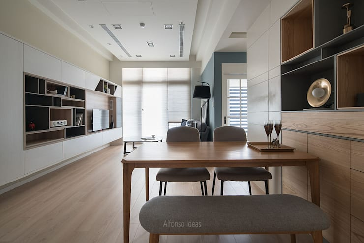 暖:  客廳 by 耀昀創意設計有限公司/Alfonso Ideas