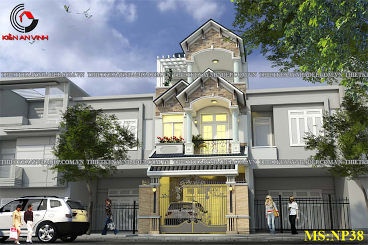 Mẫu Thiết Kế Nhà Phố 2 Tầng 6x16m Sang Trọng Tại Tphcm:  Nhà cho nhiều gia đình by Kiến An Vinh