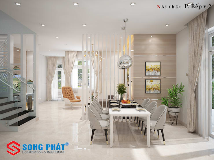 Offices & stores by Công ty Thiết Kế Xây Dựng Song Phát,
