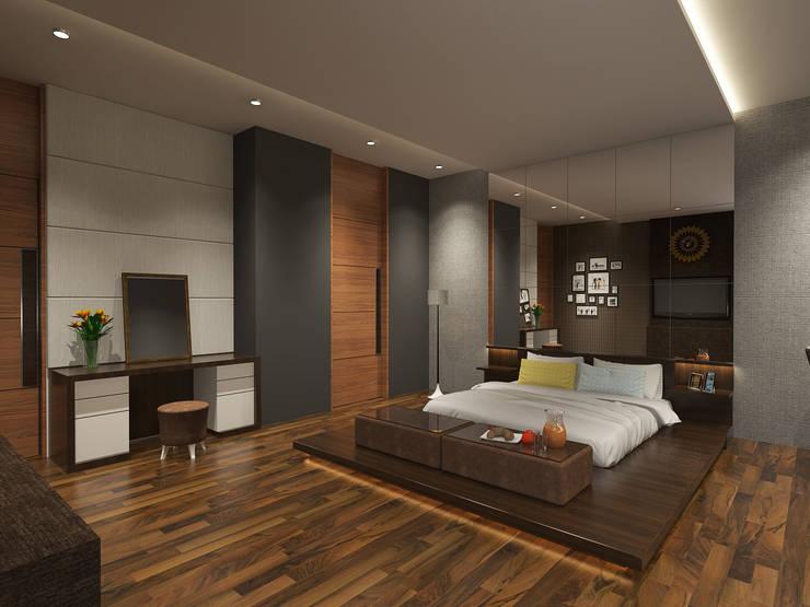 Bedroom View 01:  Kamar Tidur by Arsitekpedia