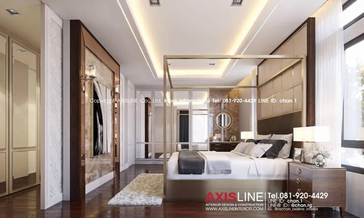 Master bedroom (ห้องนอนใหญ่):  ตกแต่งภายใน by บริษัทแอคซิสลาย จำกัด