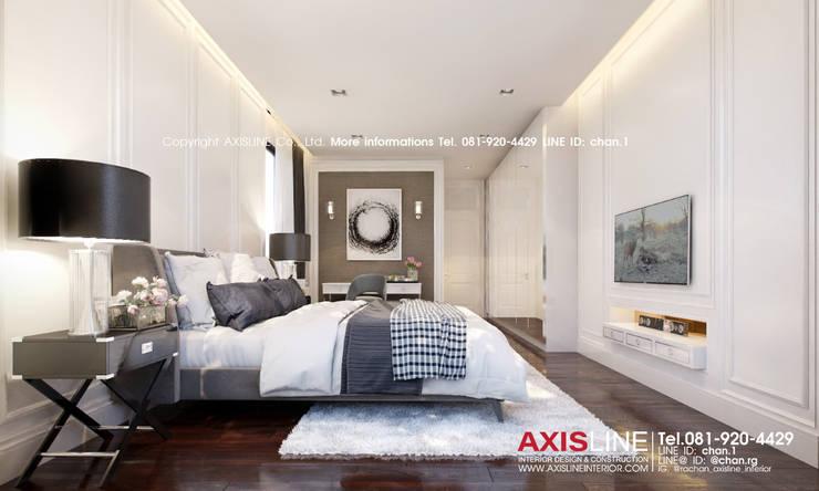 Bedroom (ห้องนอนเล็ก):  ตกแต่งภายใน by บริษัทแอคซิสลาย จำกัด