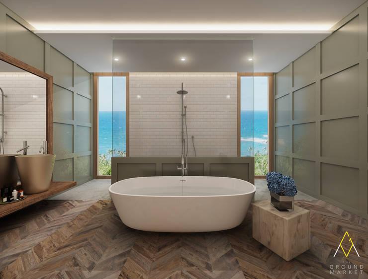 Master Bathroom:   by The Ground Market