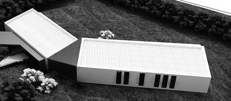 Casa Pradera: Casas campestres de estilo  por Andrés Hincapíe Arquitectos  A H A, Minimalista