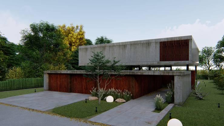VIVIENDA UNIFAMILIAR Grand Bell #1070: Casas de estilo  por Arq Olivares,