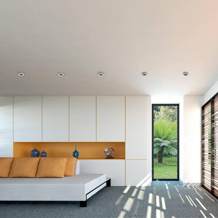 interior Casa Santander: Salas de estilo  por Punto De Fuga Arquitectura, Moderno Ladrillos