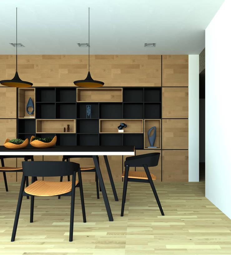 interior cocina Casa Santander: Comedores de estilo  por Punto De Fuga Arquitectura, Moderno Madera Acabado en madera