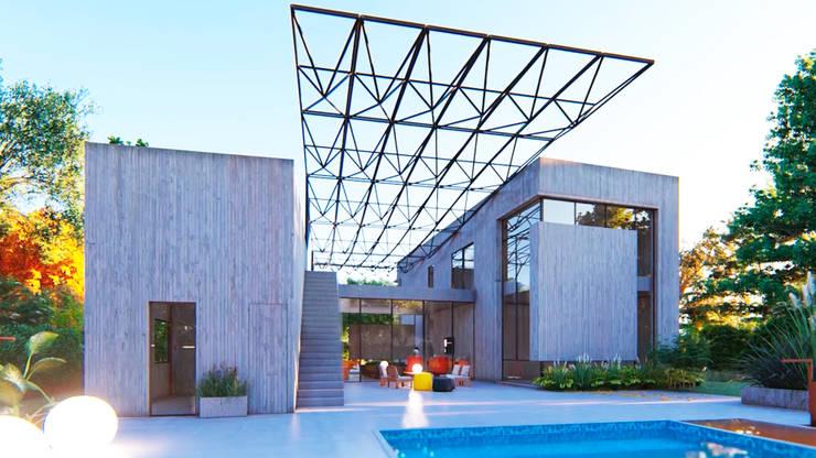 VIVIENDA UNIFAMILIAR Lomas de City Bell #251: Casas de estilo  por Arq Olivares,