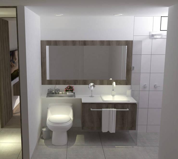 Baño tipo:  de estilo  por ARKLINE S A S, Moderno
