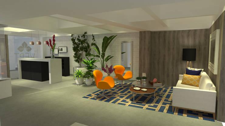 Sala Recepción:  de estilo  por ARKLINE S A S, Moderno