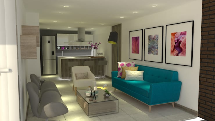 Sala-cocina:  de estilo  por ARKLINE S A S, Moderno