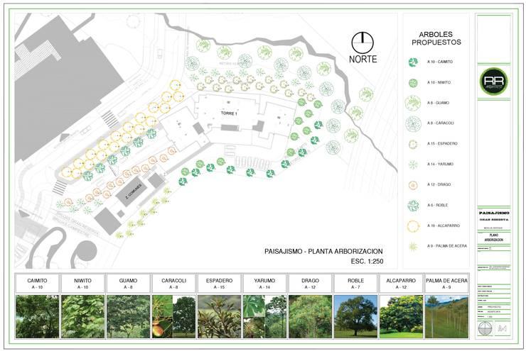 Paisajismo Gran Reserva, Medellin - Antioquia:  de estilo  por RR Arquitecto