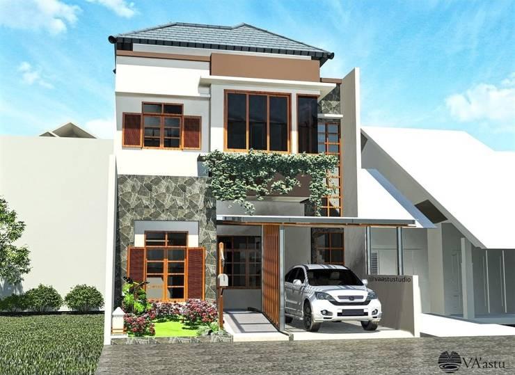 Eksterior:  Rumah tinggal  by Vaastu Arsitektur Studio