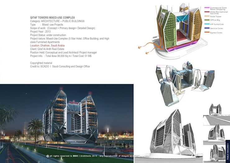 Qitaf Towers Mixed-use complex by MSK-architects | homify