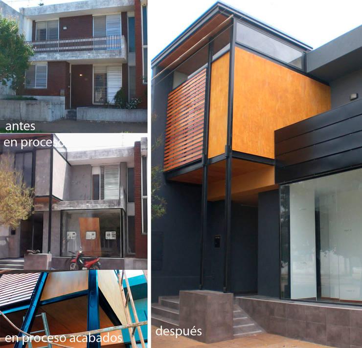 Remodelación: Galerías y espacios comerciales de estilo  por Metamorfosis arquitectura y diseño,Moderno Hierro/Acero