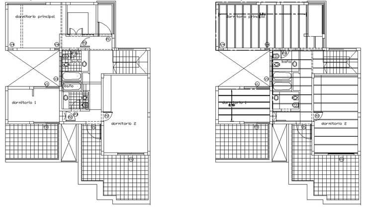 Plantas: Baños de estilo  por Metamorfosis arquitectura y diseño,