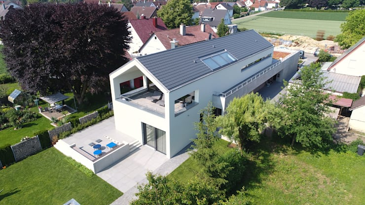 Architekturbüro zwo P의  다가구 주택, 미니멀 콘크리트