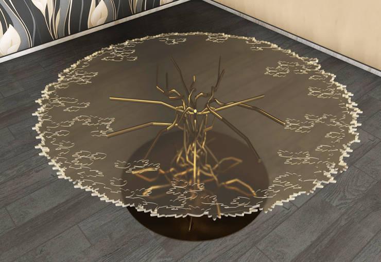 Tavolo da pranzo: Sala da pranzo in stile  di SeFa Design by nature