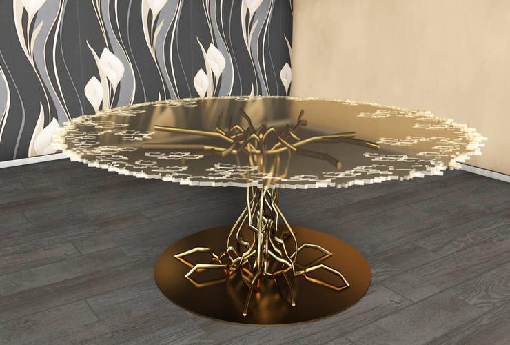 Bonsai table: Sala da pranzo in stile  di SeFa Design by nature