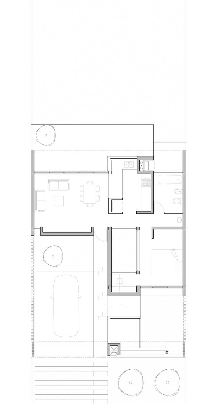Casa 443:  de estilo  por Arquitectos CGC