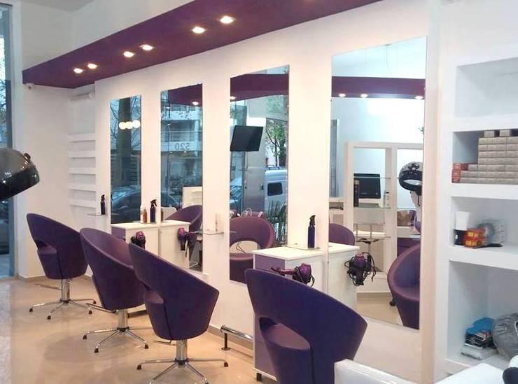 Salón de Belleza - La Plata : Oficinas y Tiendas de estilo  por Arquimundo 3g - Diseño de Interiores - Ciudad de Buenos Aires,