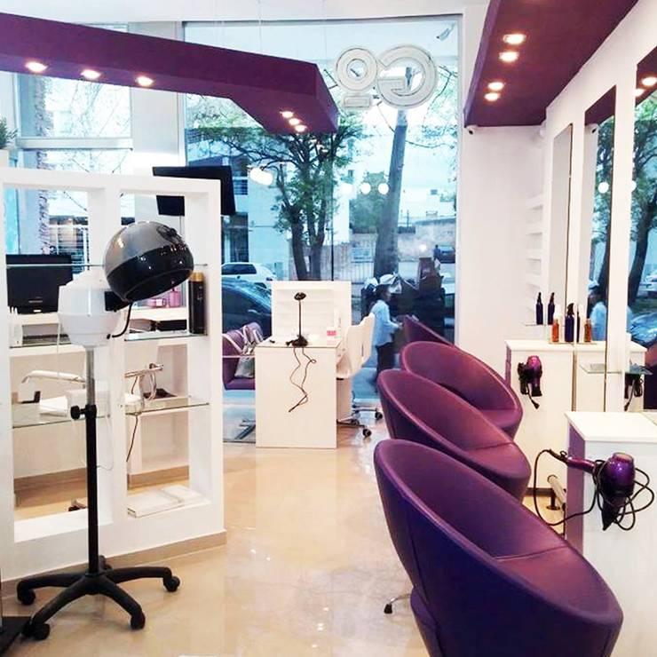 Diseño de Interiores Salon de Belleza en La Plata por 3G Arquimundo: Oficinas y Tiendas de estilo  por Arquimundo 3g - Diseño de Interiores - Ciudad de Buenos Aires,