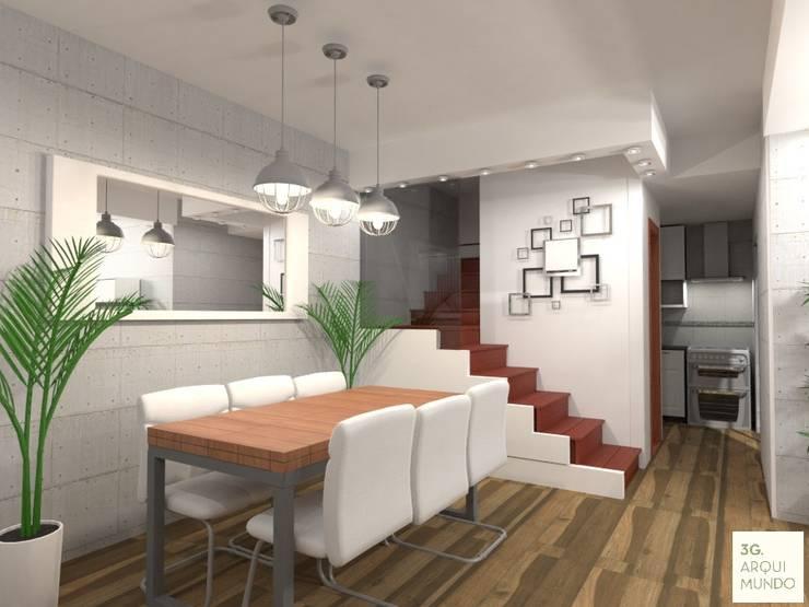 Proyecto Leandro - Living: Comedores de estilo  por Arquimundo 3g - Diseño de Interiores - Ciudad de Buenos Aires,