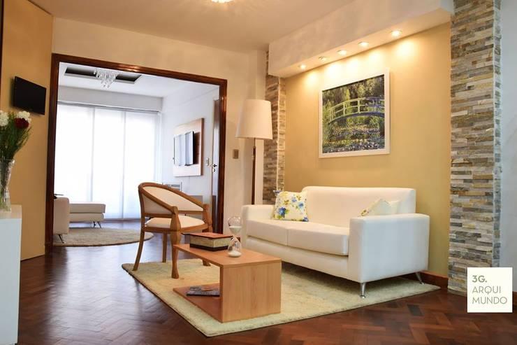 Salon de style  par Arquimundo 3g - Diseño de Interiores - Ciudad de Buenos Aires, Moderne