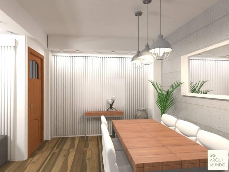 Proyecto Leandro - Comedor: Comedores de estilo  por Arquimundo 3g - Diseño de Interiores - Ciudad de Buenos Aires,