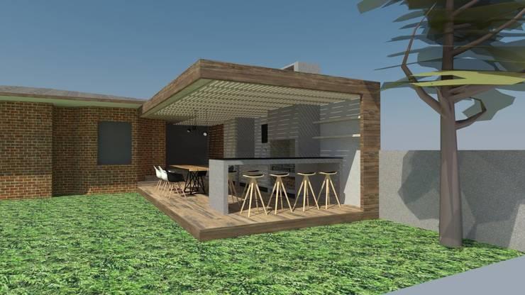 Quincho Lo Matta, 30m2, Vitacura:  de estilo  por m2 estudio arquitectos