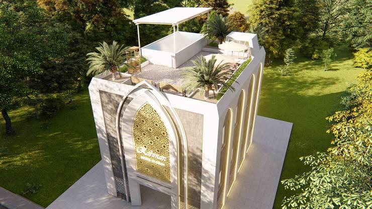 Desain Rencana View 1 (Eagle view):   by A'raf Studio