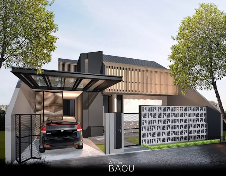 SG House:  Rumah tinggal  by Atelier BAOU+